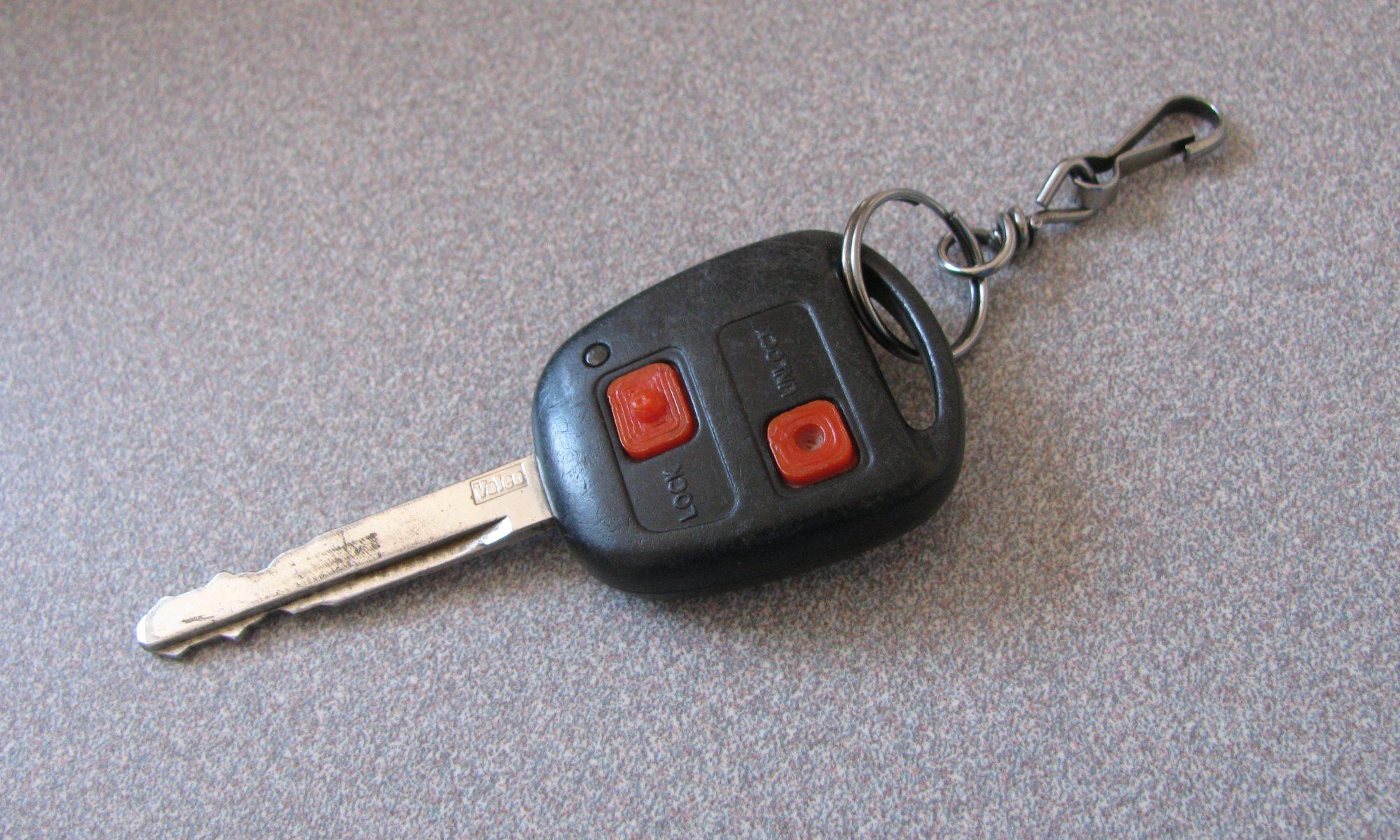 Boutons de clef - en place